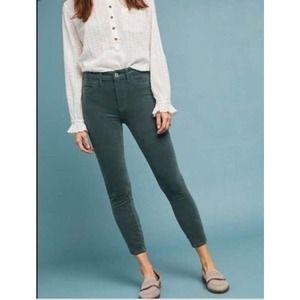 Anthropologie Pilcro Green Serif Skinny Jeans 30